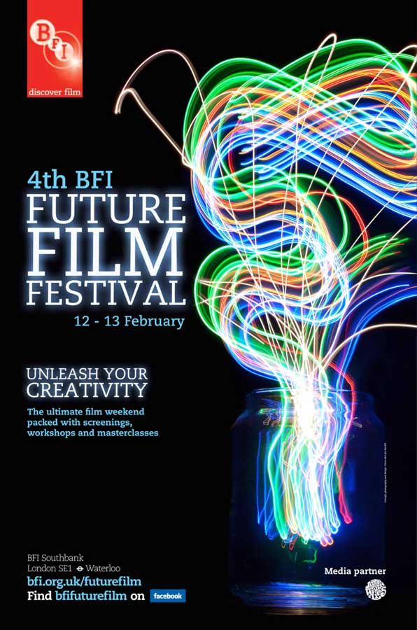 The poster for the 4th BFI Future Film Festival, conceived, designed and photographed by Piccia Neri.