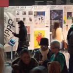 The foyer of the BFI Southbank with the students' exhibition during the Future Film Festival on 17 February 2013.